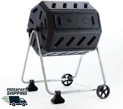 FCMP Outdoor IM4000 WK 37 Gal Dual Chamber Quick Curing Tumbling Composter Bin $83.88