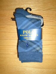 Polo Ralph Lauren Toddler Boys Socks 3 Pair Crew Baby Shoe Size 10 13 NWT $9.99