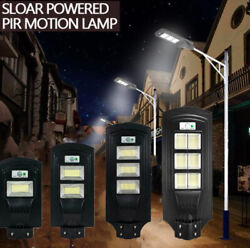 7800K Commercial Solar Street Light LED Outdoor with Mounting Pole amp; Remote