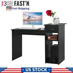 Modern Home Desktop Computer Desk With Drawers Home Desk Dormitory Study Desk ❄ $86.98