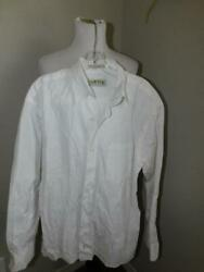 Orvis Size L Large Men#x27;s White Collared Cotton Long Sleeve Button Down Shirt $14.99