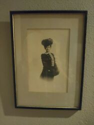 Vintage Antique Period Framed Matted Classy Woman Circa 1890s photograph $35.95