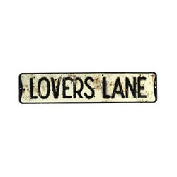 Rustic Lovers Lane Tin Street Road Sign Vintage Metal Wall Mount Farmhouse Decor $18.99