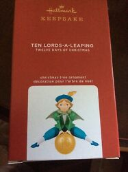 Hallmark 2020 Keepsake Ornament 12 Days of Christmas Ten Lords a Leaping MIB $19.99