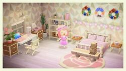 Pink and White Bedroom in ACNH $3.00