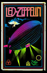 Led Zeppelin Black Light Poster Home Deco Style Wall Art Decor No Frame $22.99