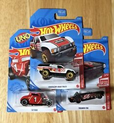 HOT WHEELS 2021 D Case quot;TARGET RED EDITIONquot; Toyota Triumph 32 Ford Lot of 3 $10.25