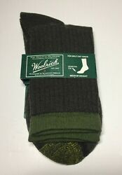 Woolrich Ten Mile Day Hiker Size L Sage Coffee Men 9 12 Women 10.5 12 Socks NWT $12.50