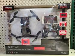Propel Flex 2.0 Compact Folding Drone With HD Camera amp; Remote With Phone Holder $59.99