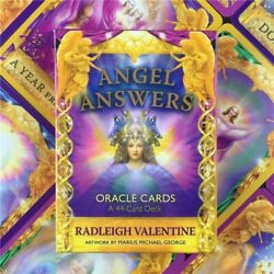 Angel Answers Oracle Tarot Cards A44 Radleigh Valentine Brand New PDF Guidebook $11.98