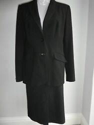 2 PIECE BLACK SKIRT SUIT SIZE 14 FROM DEBENHAMS EXCELLENT CONDITION FULLY LINED GBP 30.00