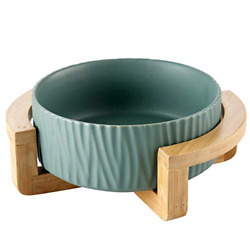 AG UNICORN Ceramic Pet Bowls with Stand Dog Cat Water Bowl Food Dish Heavy amp; $31.19