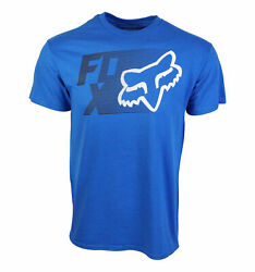 FOX RACING MENS TRACK T SHIRT ROYAL $11.95