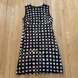 Moschino Cheap amp; Chic Multicolored Printed Shift Dress Size 10 $68.00