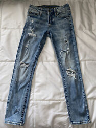 American Eagle Mens Next Level Flex Skinny Disstressed Jeans Size 26 X 28 $22.00