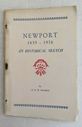 1976 NEWPORT RI RHODE ISLAND HISTORY SKETCH BOOK 64 PAGES ILLUSTRATED 1639 1976 $7.99