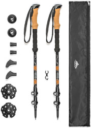 Cascade Mountain Tech Trekking Poles Aluminum Hiking Walking Sticks with Locks $28.40