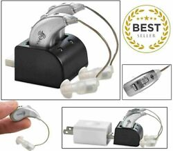 2 Digital Hearing Aids USB Rechargeable Pair Sound Amplifier Behind The Ear BTE $54.99