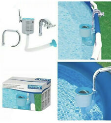 Intex Swimming Pool Deluxe Surface Skimmer Wall Mount Basket Above Ground Debris $56.99