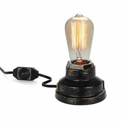 Vintage Table Lamp Industrial Wrought Iron Desk Lamp with Dimmer Switch $29.34