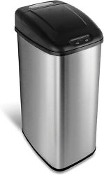 NINESTARS Automatic Kitchen Trash Can w. Sensor Lid Garbage Container Bin 13Gal $79.99