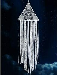 KHOYIME Large Dream Catchers White Dreamcatcher With Evil Eye Bohemian Wall For $17.87