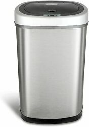 NINESTARS Automatic Kitchen Trash Can w. Sensor Lid Garbage Container Bin 13Gal $72.99