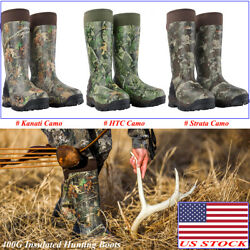 HISEA Apollo Pro Hunting Boots 400G Insulated Rain amp; Snow Rubber Working Boots $49.99