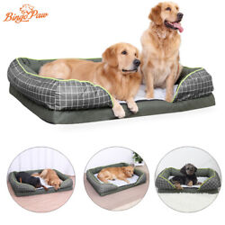 High Grade M XL Orthopedic Pet Sofa Bed Thick Foam Jumbo Dog Bed Removable Cover $59.96