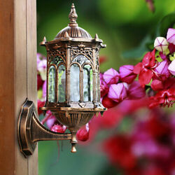 Retro Lantern Antique Vintage Rustic Lamp Outdoor Wall Sconce Light Fixture Deco $25.02