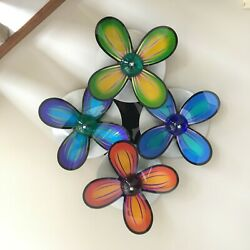 Exquisite rare big wall flowers abstract art in acrylic amp; steel by Shlomi Haziza $1450.00