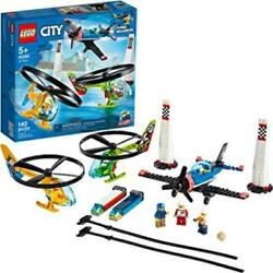 LEGO City Air Race 60260 Flying Helicopter Toy Features 2 Ripcord Helicopters $25.49
