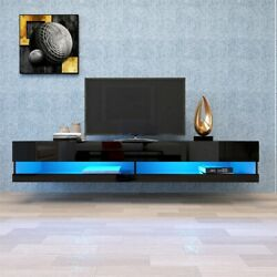 Industrial Coffee Table w Storage amp; Shelf Brown Wide Rectangle Modern Table US $129.99