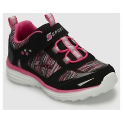 Skechers SSport Toddler Girls#x27; Tyro Performance Athletic Shoes Black Pink Size 9 $10.00