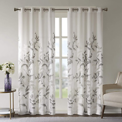Park Botanical Sheer Curtains for Bedroom Modern Contemporary Linen 50x84 $22.99