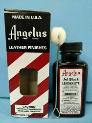 Angelus Jet Black Leather Dye 3 oz. with Applicator for Shoes Boots Bags NEW $7.19