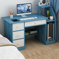 Simpleness Laptop Computer Desk With Drawer Shelf Office Home Modern Work Desk $26.59