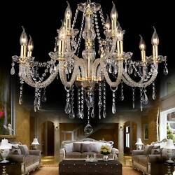 Elegant Crystal Glass Chandelier Ceiling Lighting Fixture 6 15 Light Pendant US $55.99