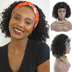 Headband Wigs Curly Wig for Black Women Synthetic Wig for Women Daily Parly $17.66