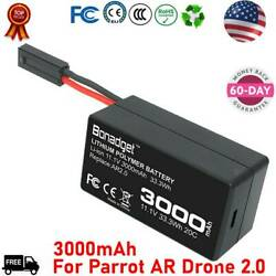 Upgrade 11.1V 3000mAh Battery For Parrot AR Drone 2.0 Li Polymer Rechargeable US $17.99