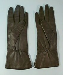 Superb Insulated Gloves Women#x27;s Brown Soft Leather Size 6.5 $14.99