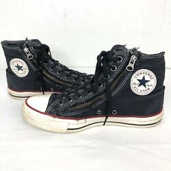 Converse All Star Womens Sneakers Shoes Blue High Top Canvas Zip Up Sz 8.5 $35.00