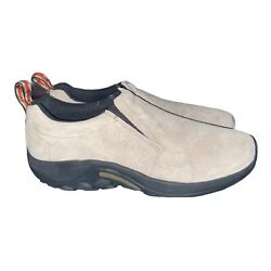 Mens 12 Merrell Jungle Moc Classic Taupe Suede Slip On Shoes Ortholite $69.99