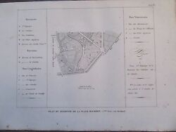 Engraving 1839 Paris Plan Of District of The Place Maubert 2ème Gaming South $34.14