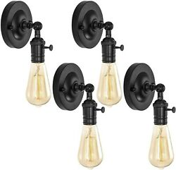 Vintage Industrial Wall Sconce Light Fixture Rustic Bedroom Black Mount Metal 4 $54.50