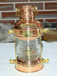 Decorative Nautical Brass amp; Copper Polished Anchor Lantern Hanging Lamp Home $89.99
