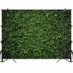 Green Leaves Photography Backdrop Spring Grass Wall for Party Banner 5#x27;x3#x27; $9.86