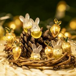 Easter Decoration Rabbit Decorative Lights Bunny String Lights Battery Operated