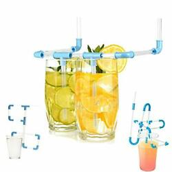 Kits DIY Drinking Pipe Straws Novelty Kids Party Drinking Game Multi color $10.56