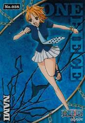 No.38 Nami One Piece Clear card collection gum BLUE $26.03